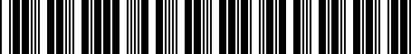 Barcode for 04360016