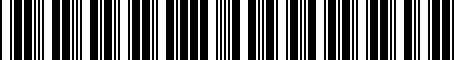 Barcode for 04743689AH