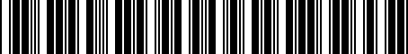 Barcode for 05019244AA
