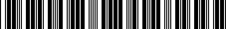 Barcode for 05234353
