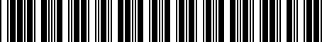 Barcode for 52109986AH