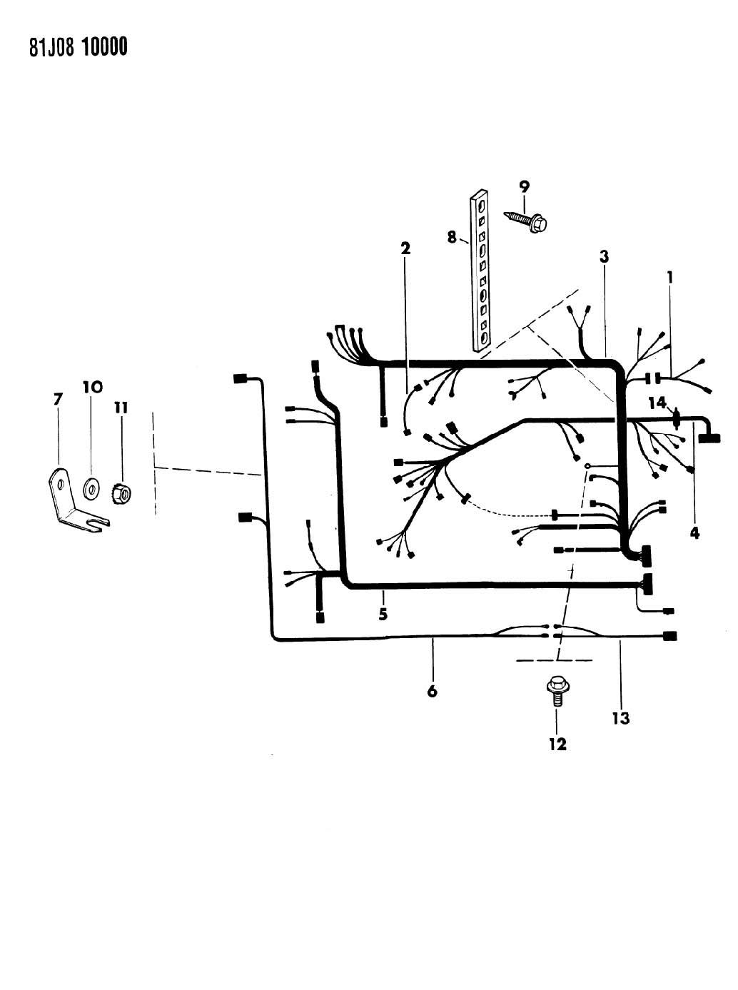 1986 jeep grand wagoneer wiring engine compartment sj. Black Bedroom Furniture Sets. Home Design Ideas