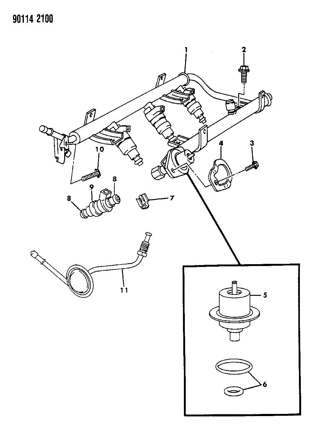 Chrysler Lhs Clip  Fuel Injector