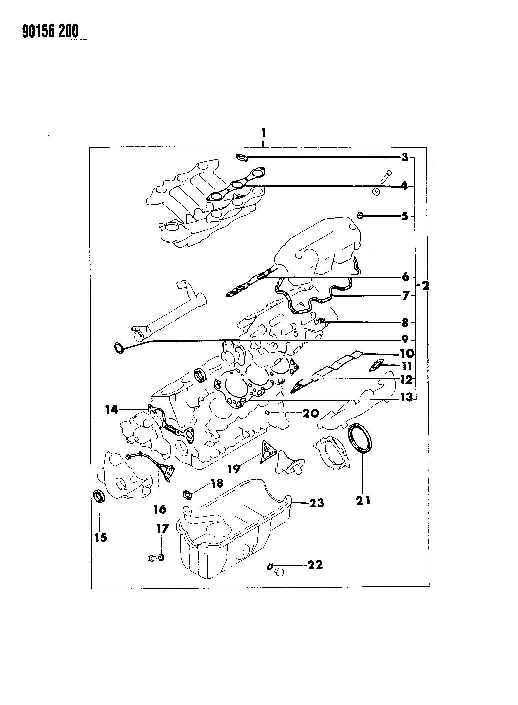 Plymouth Grand Voyager Gasket  Crossover Pipe  Efa