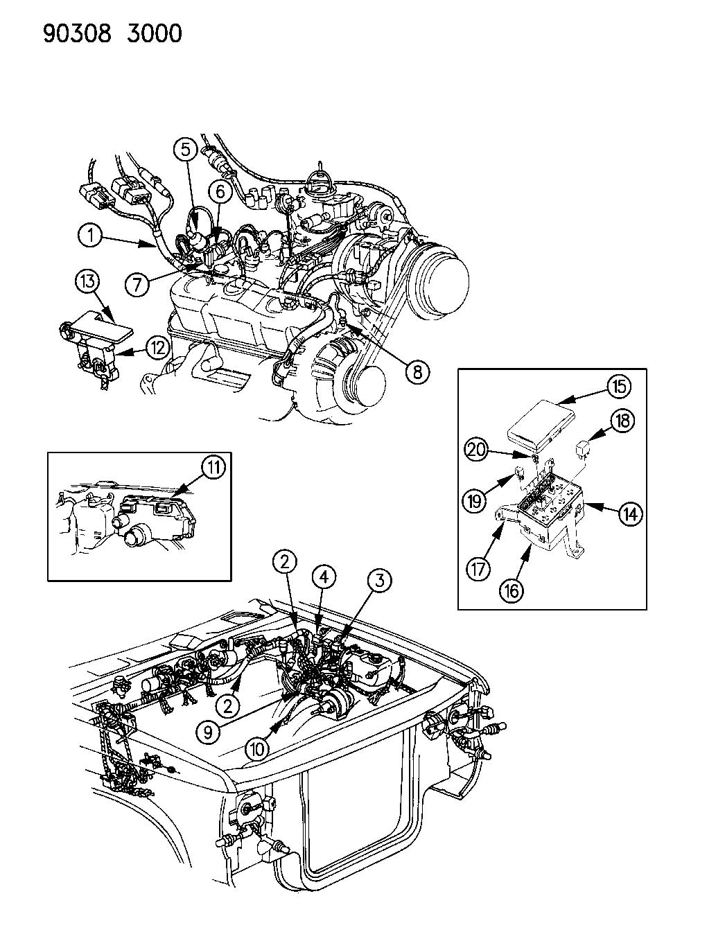 Diagram WIRING--ENGINE-FRONT END & RELATED PARTS N-MODELS 6-CYLINDER ENGINE for your Dodge