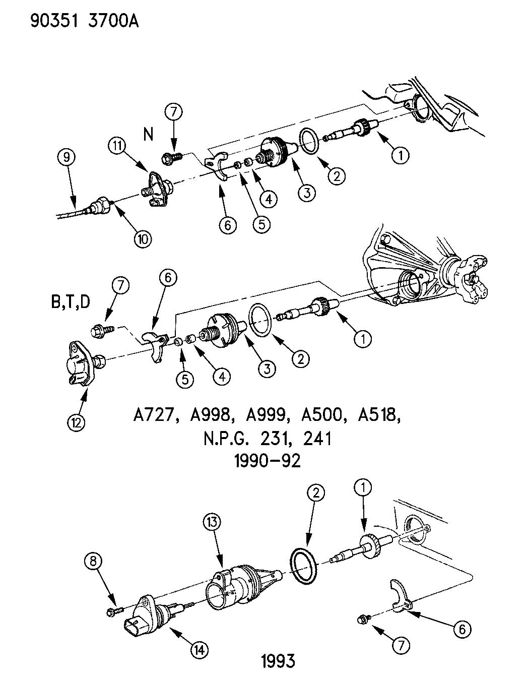 1991 jeep wrangler housing speedometer drive gear. Black Bedroom Furniture Sets. Home Design Ideas
