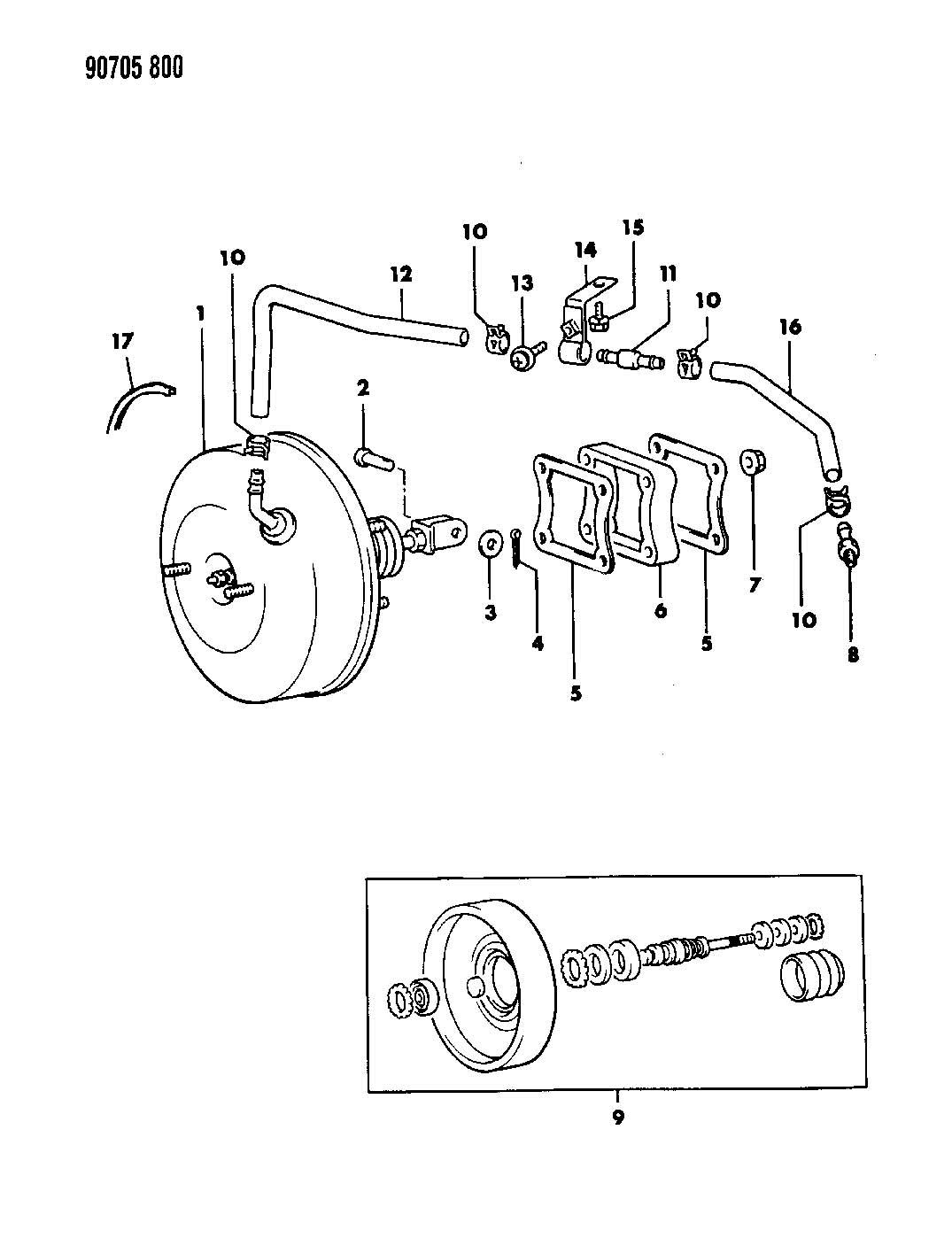 Dodge Avenger Seal  Brake Booster  Sealer