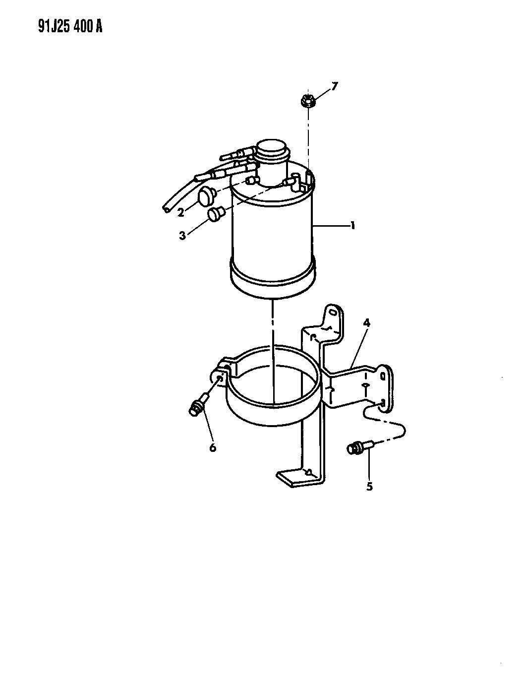 1992 jeep cherokee vapor canister wrangler  cherokee