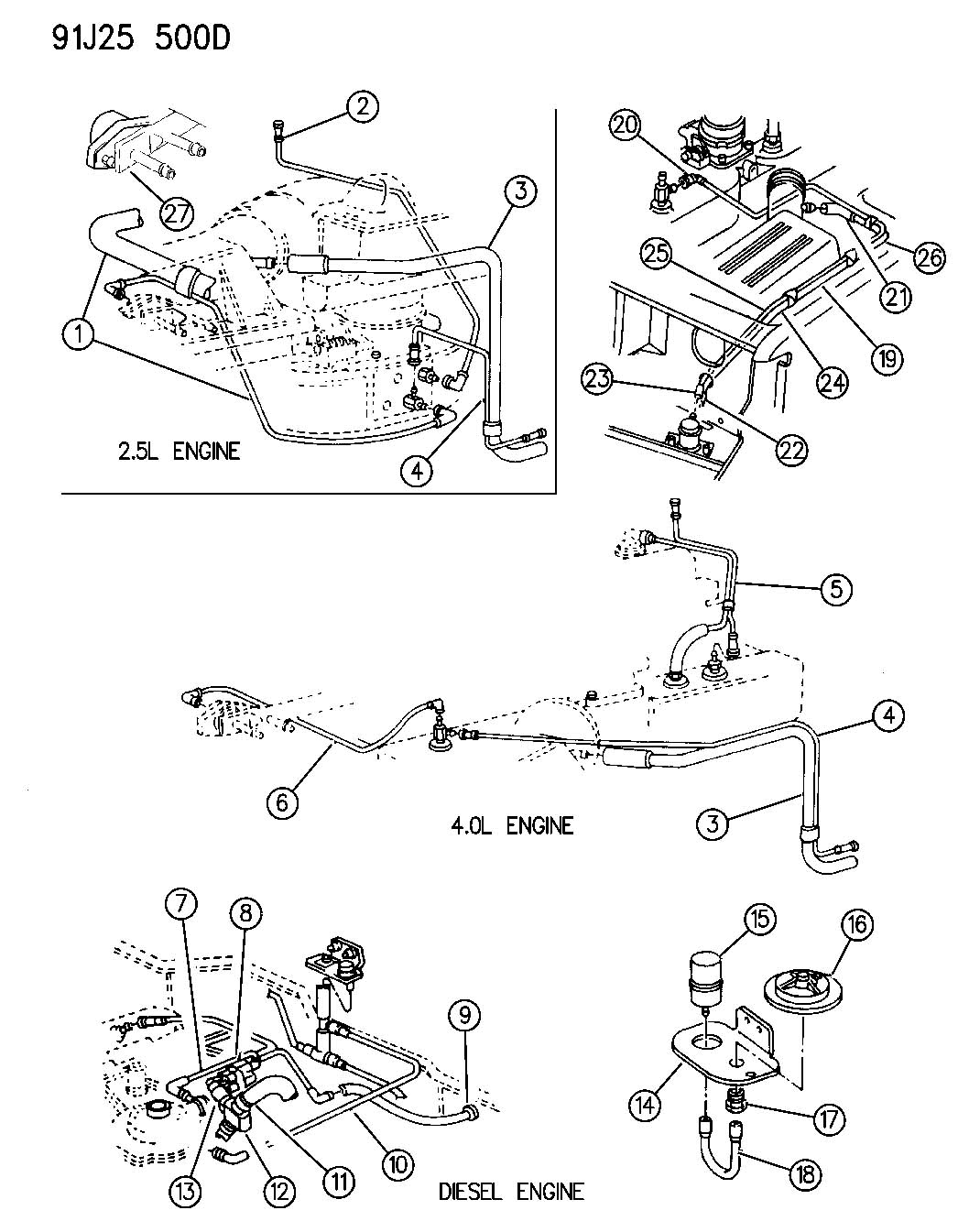 1992 jeep wrangler vacuum harness wrangler cherokee. Black Bedroom Furniture Sets. Home Design Ideas