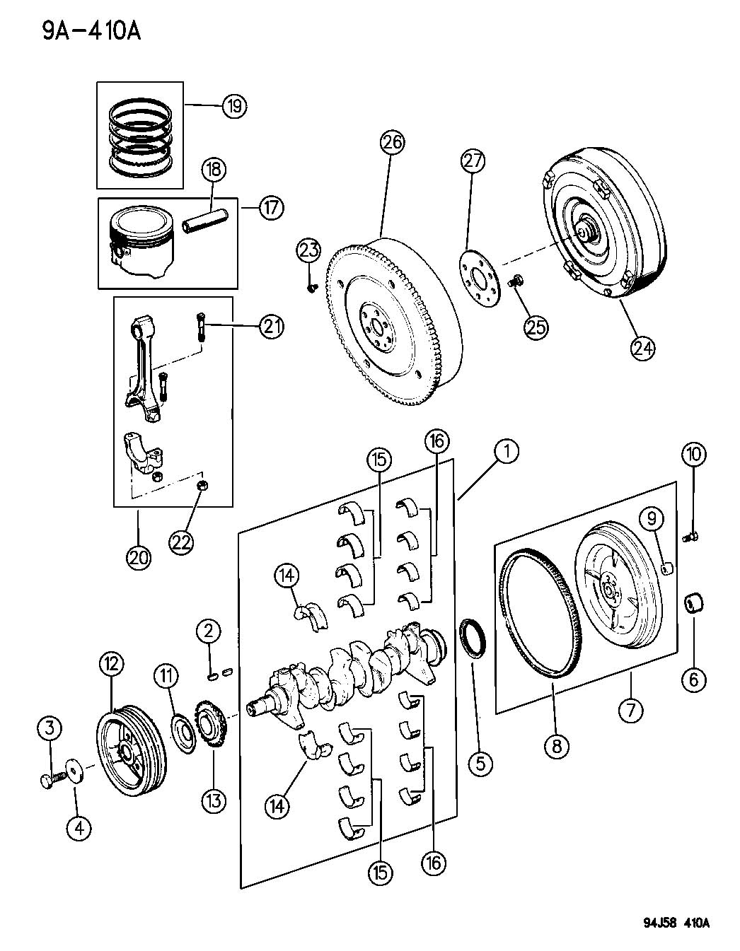 service manual  removing torque convertor 1996 jeep
