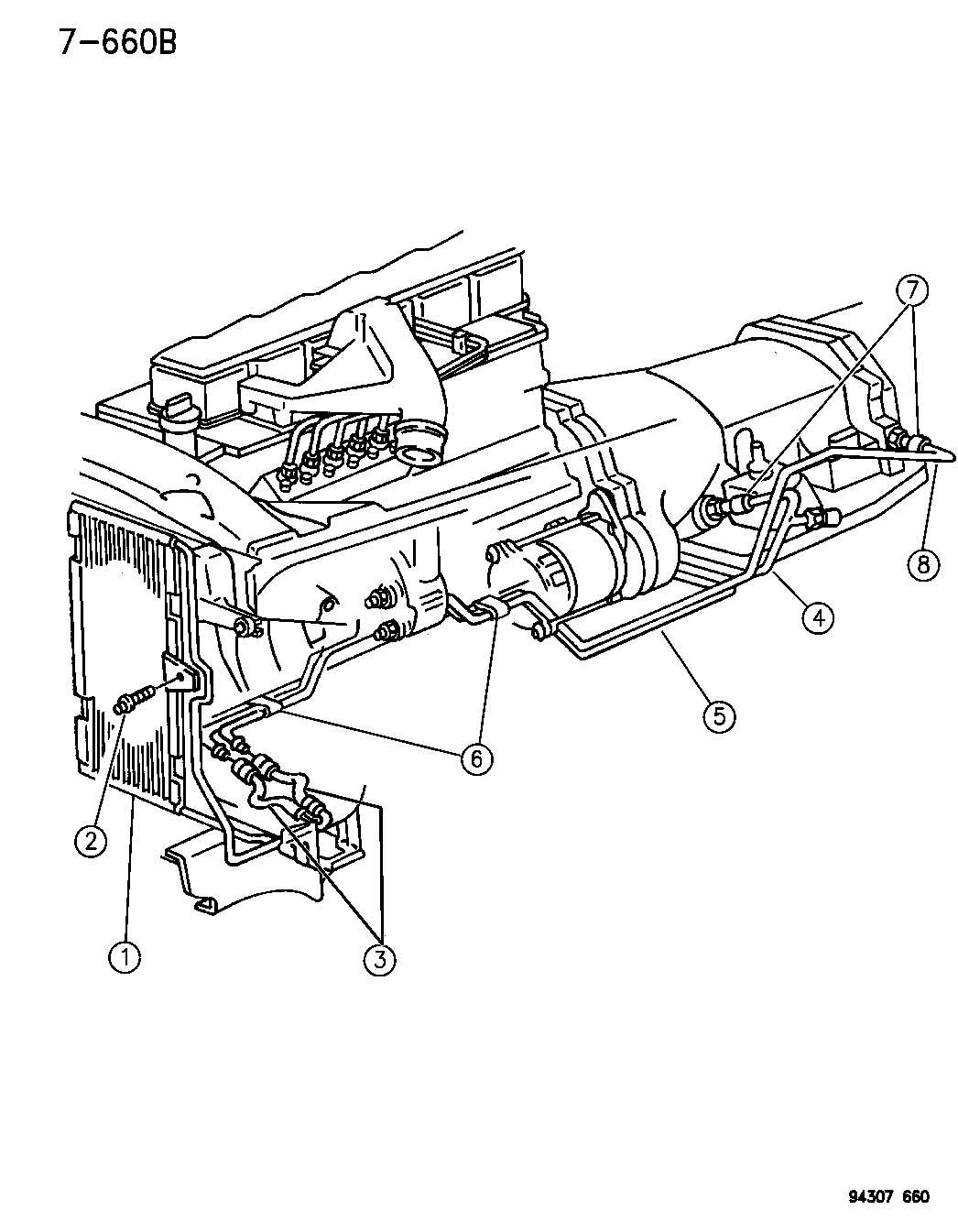 1996 Dodge Oil Cooler And Lines Diesel Engine R Body