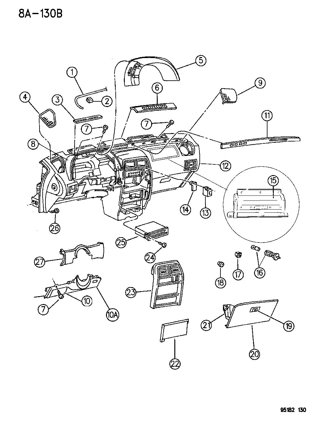 service manual  how remove dash on a 1995 chrysler lebaron