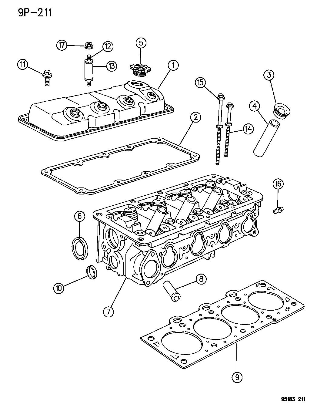 Plymouth Breeze Bolt  Cylinder Head  Mounting