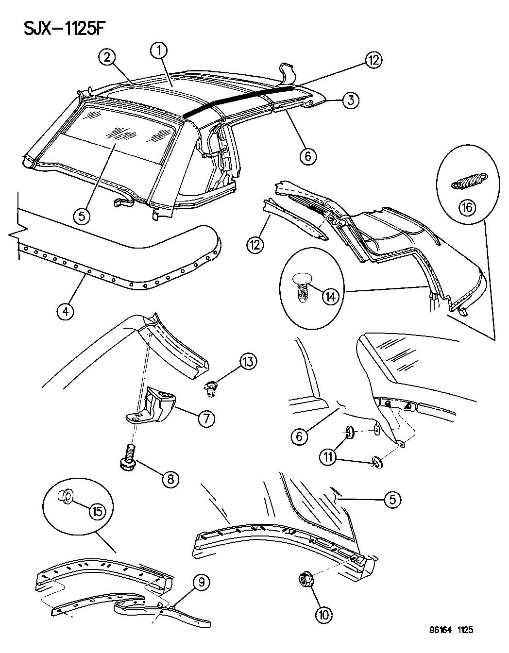 2004 Chrysler Sebring Spring  Folding Top Cover Tension