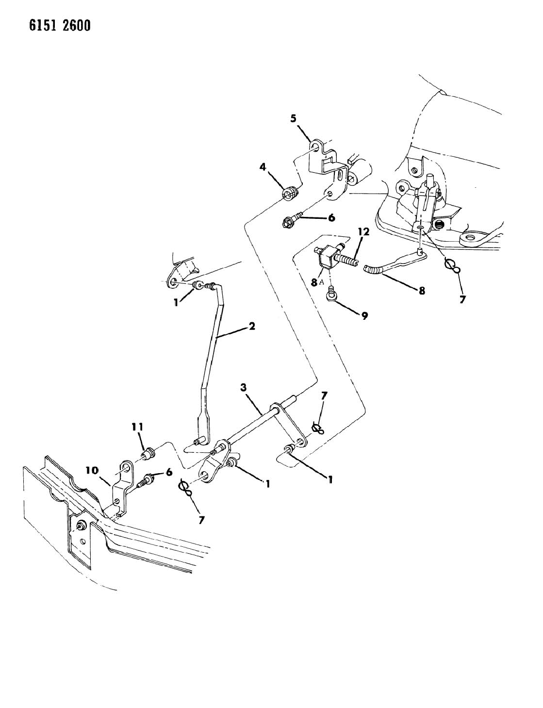 grommet torque shaft frame bracket dodge 86