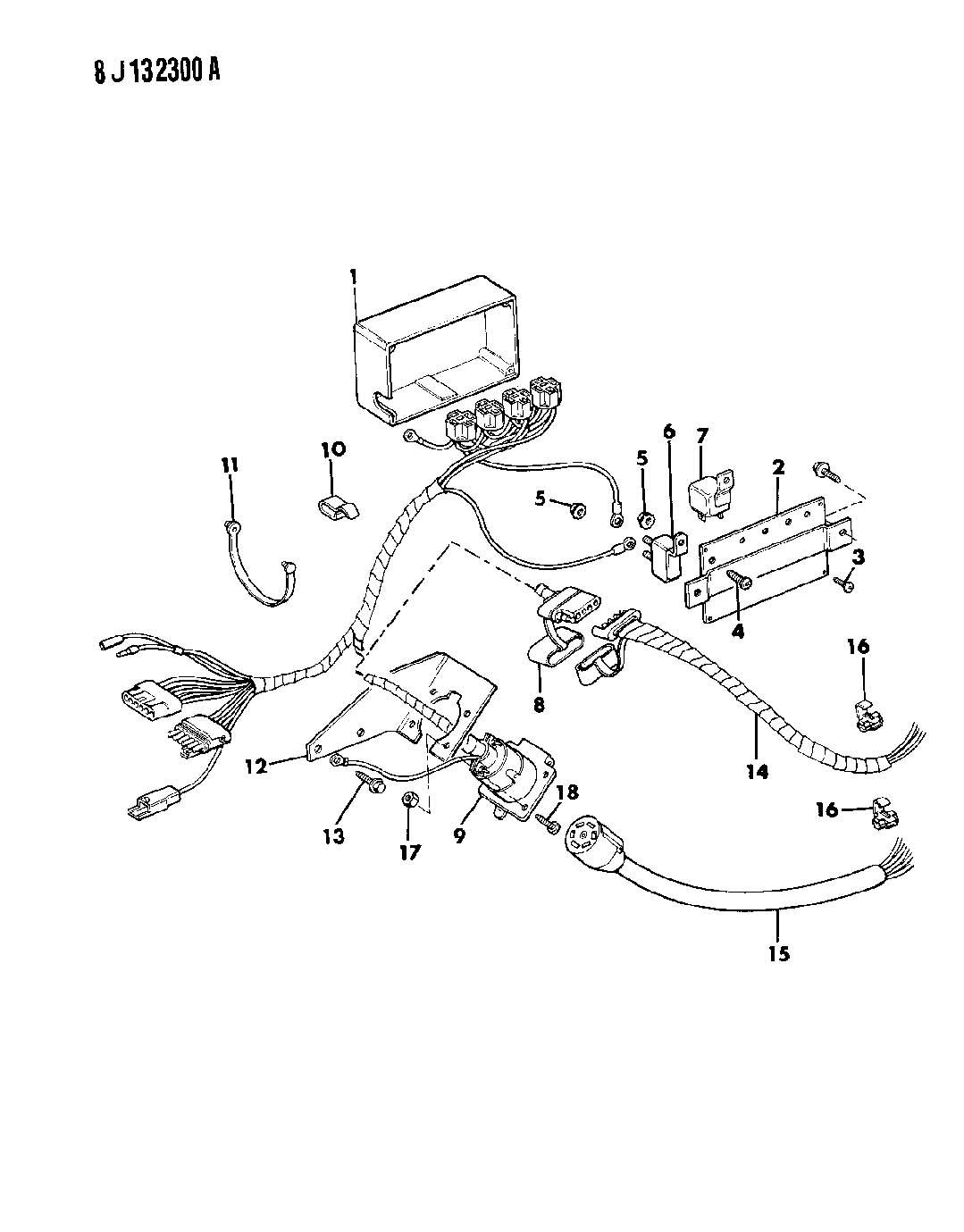 82400554ab - mopar wiring package  pigtail adaptor