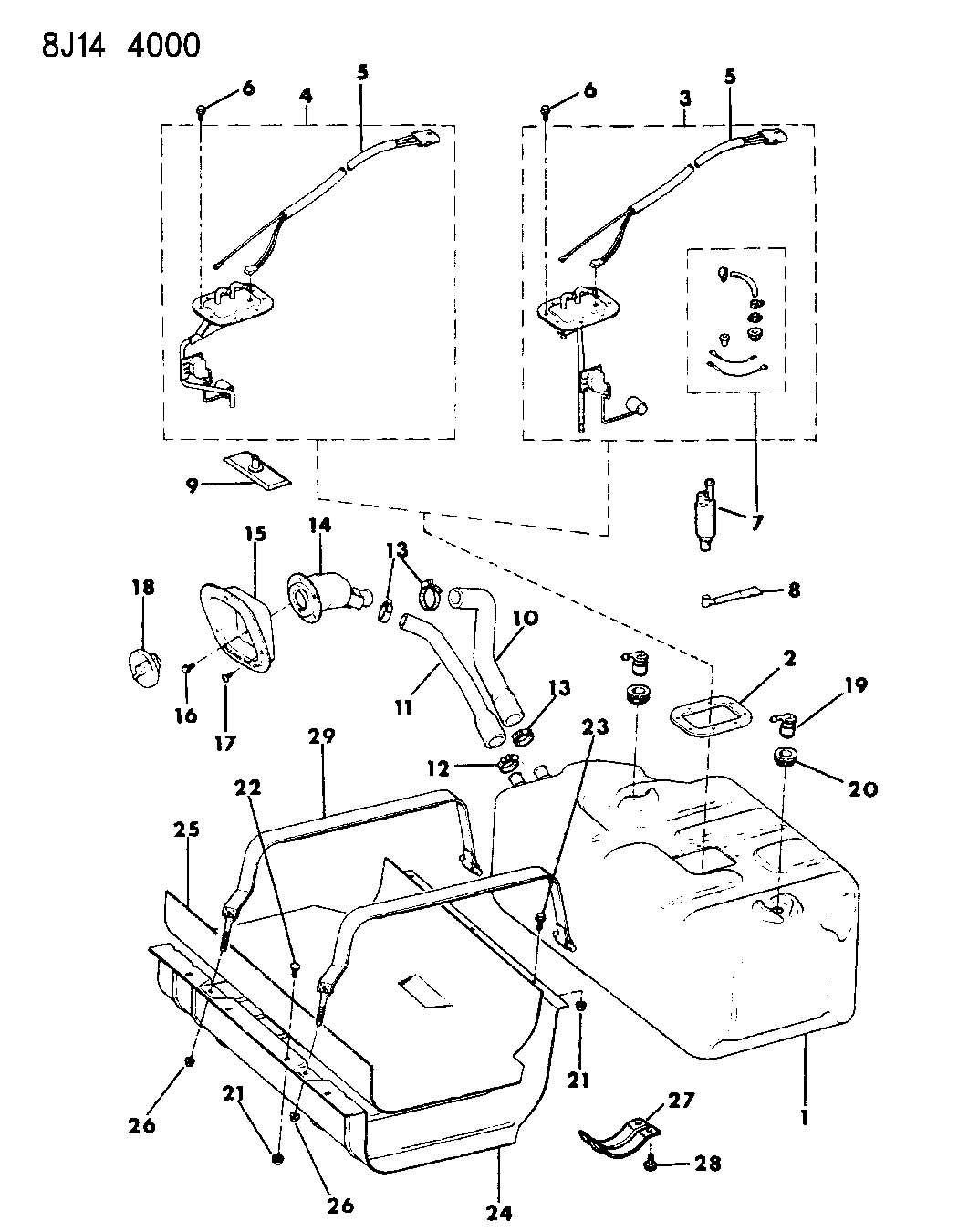 1989 jeep wrangler fuel tank 20 0 gallon wrangler yj. Black Bedroom Furniture Sets. Home Design Ideas