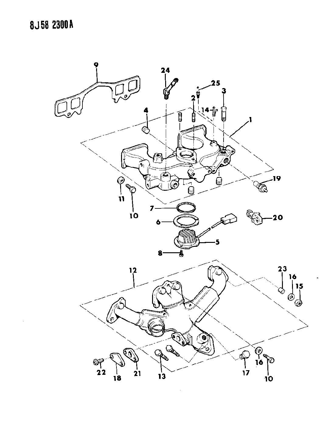 1988 Jeep Wrangler Manifold