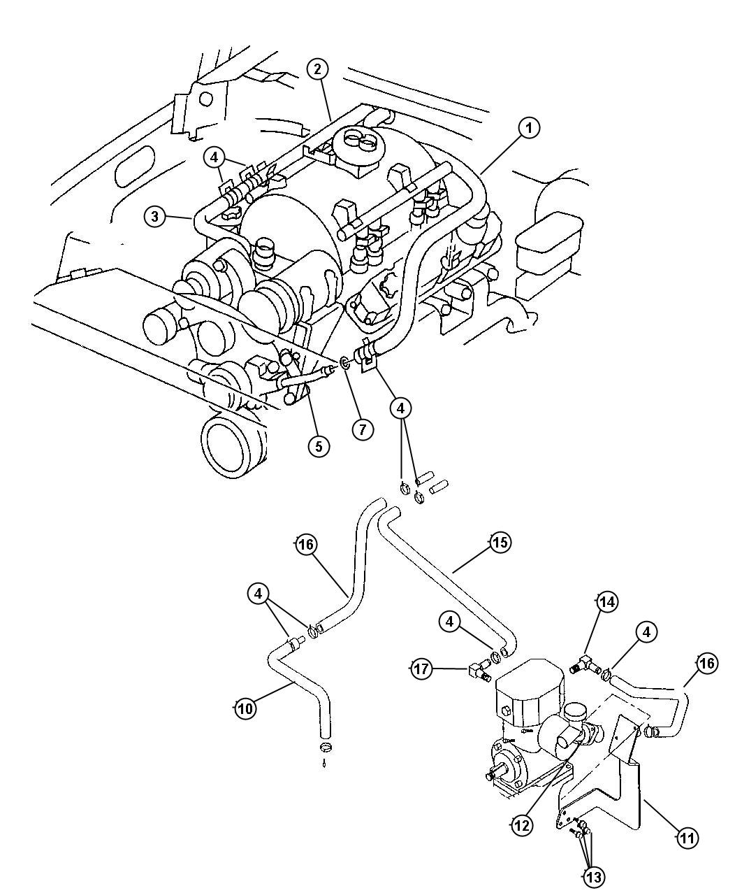 Plymouth Breeze Connector  Engine Coolant Outlet