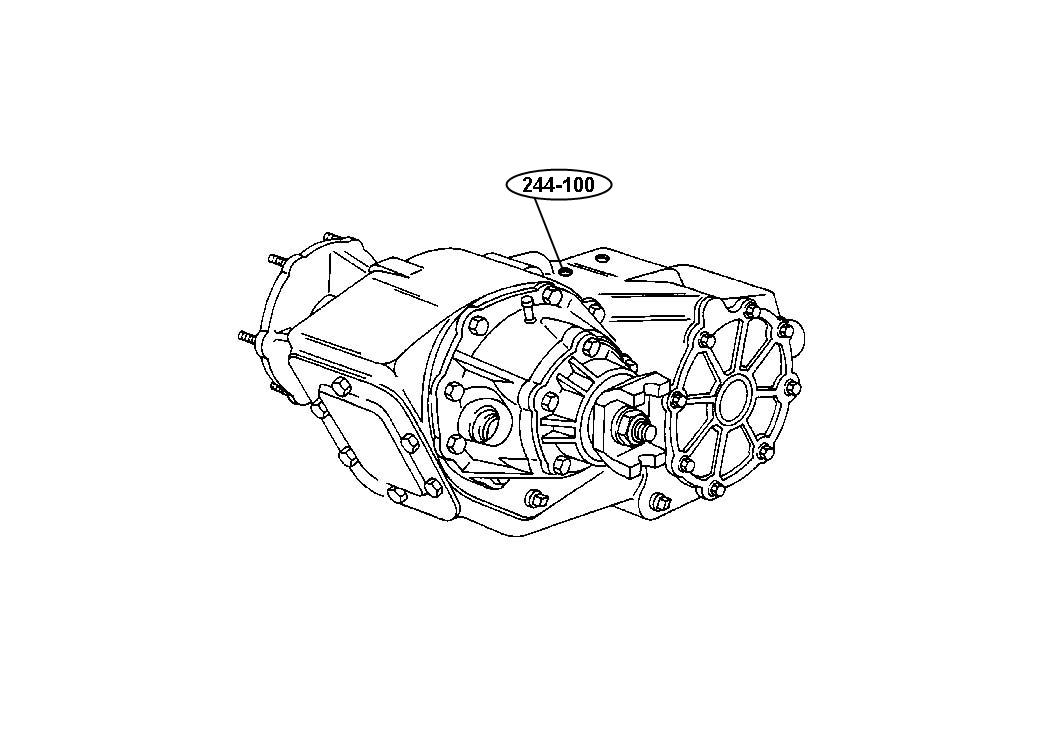 Diagram Transfer Case Model 244 [DHV] for your 2003 Dodge Ram 1500 SLT REG CAB 8 FT BOX