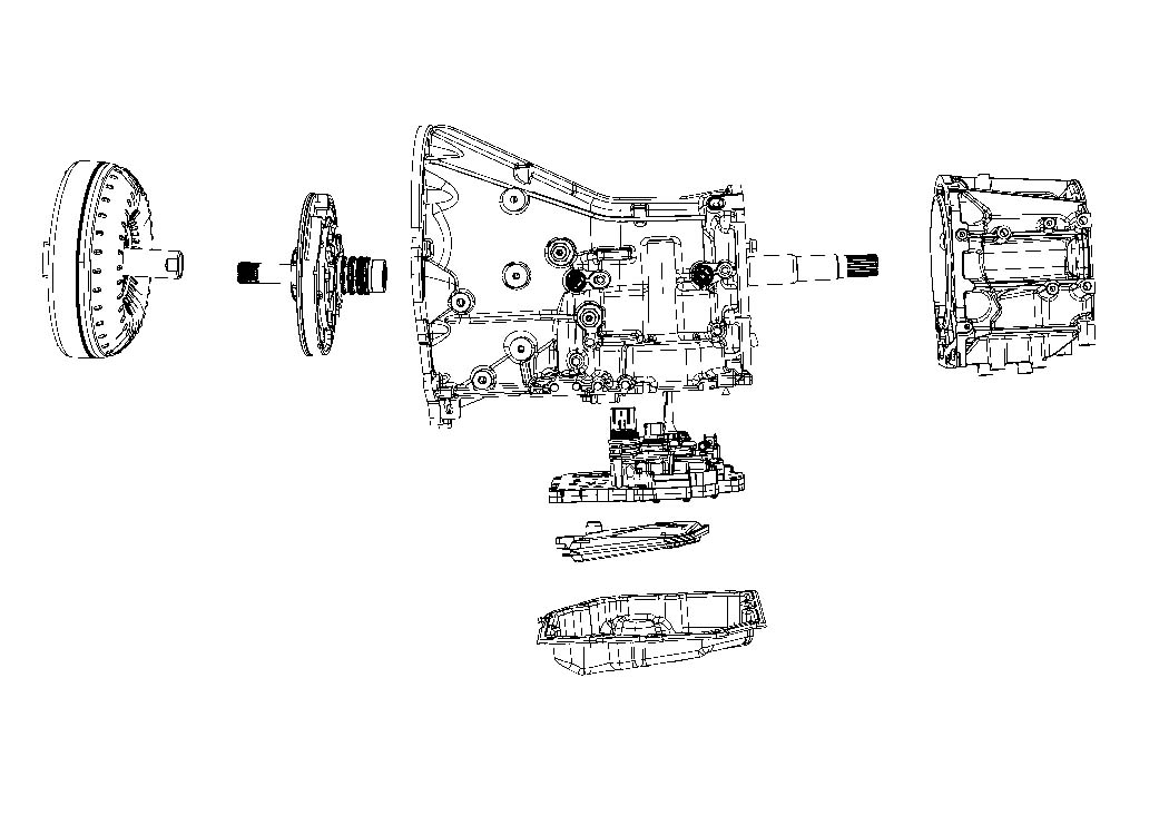Diagram 42RLE; 4-Speed; Automatic Transmission for your 1988