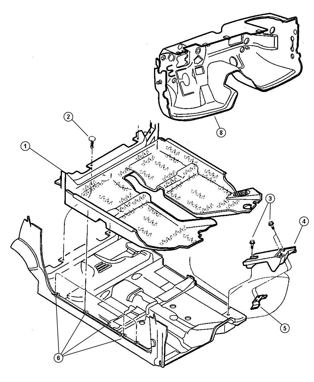 2000 Dodge Grand Caravan Clip  Nameplate  Nut  Dash Panel  Silencer Attaching  Push On  500