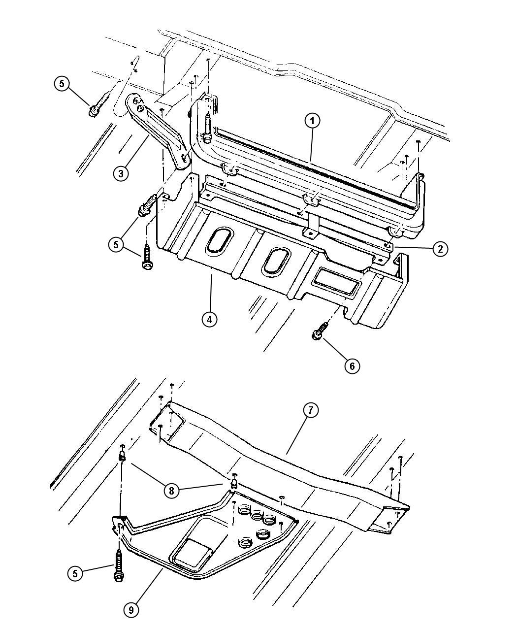 nos 1993 1998 jeep grand cherokee l r lower radiator core support Jeep Cherokee Radiator fits 1993 1998 jeep grand cherokee item 3 shows location on one side