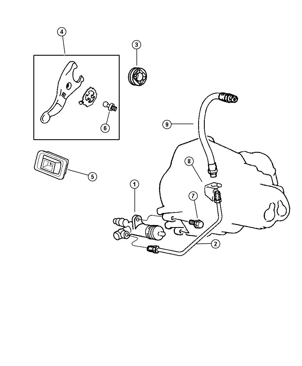 Eagle Talon Cylinder  Clutch Slave  Clutch Release