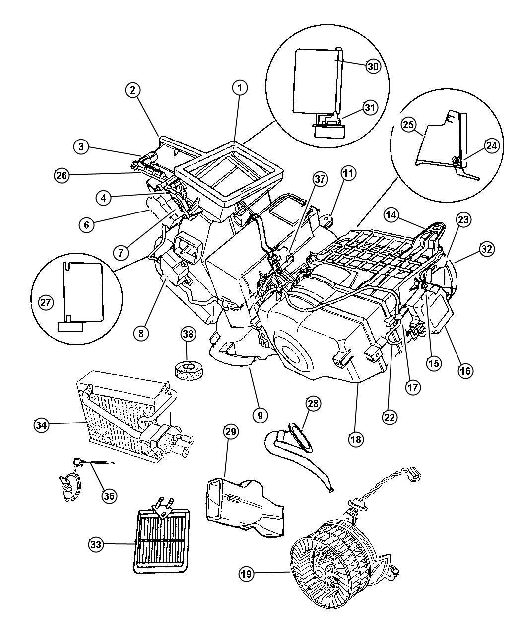 1997 Dodge Intrepid ATC Unit