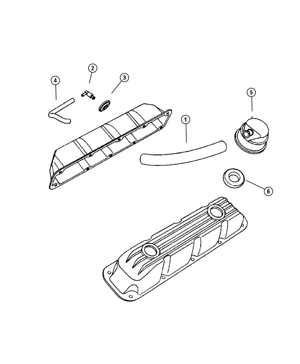 Dodge Durango Fitting  Crankcase Vent Tube  W  O Orifice