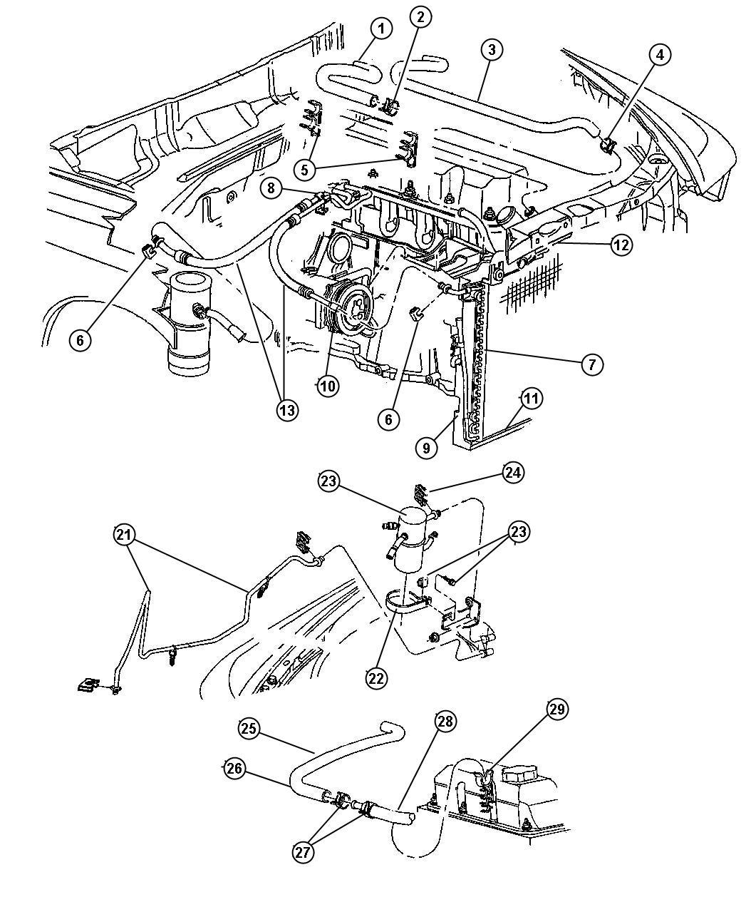 1999 Dodge Dakota Hose  Heater Supply