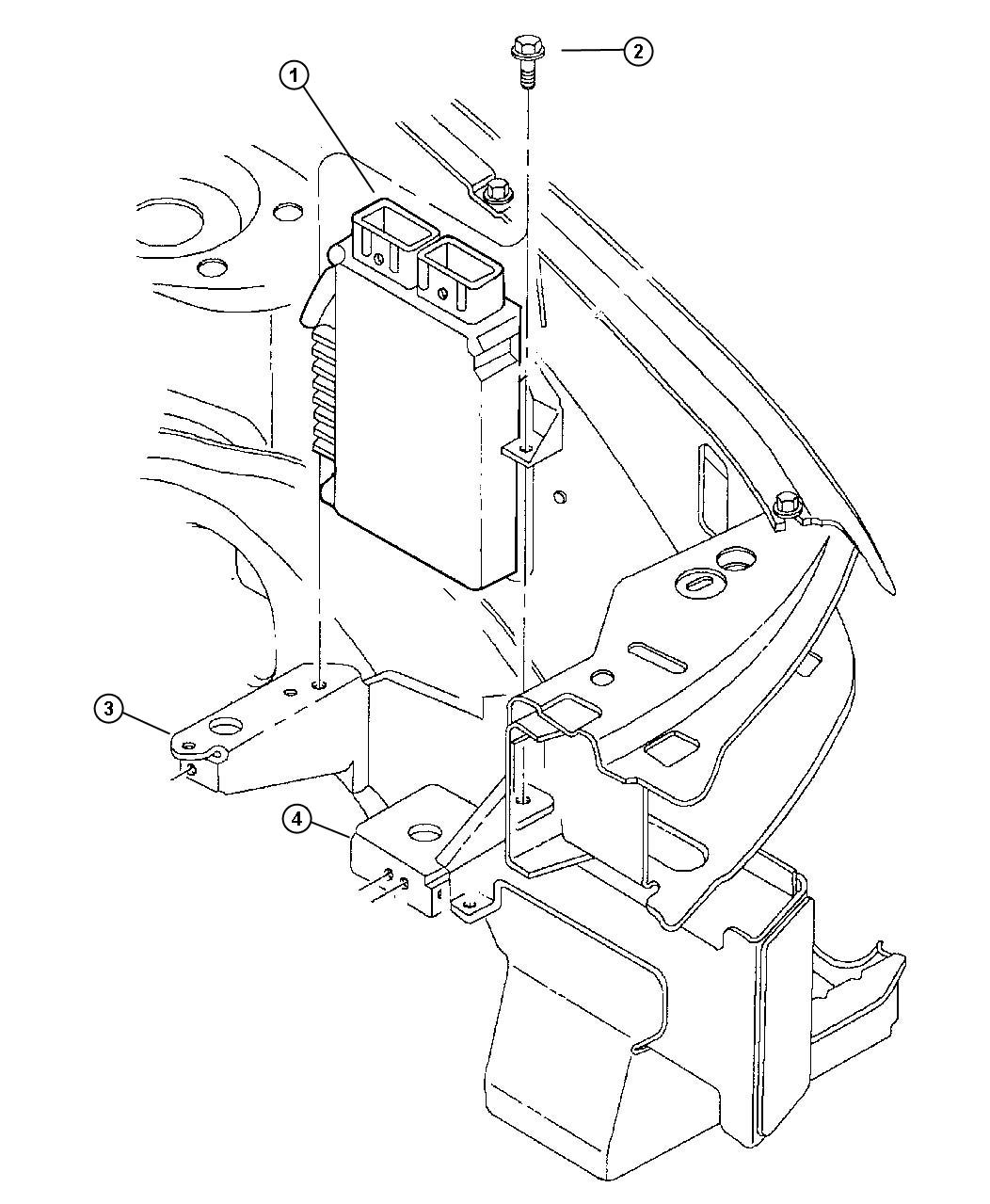 Plymouth Breeze Module. Engine controller. Federal ...