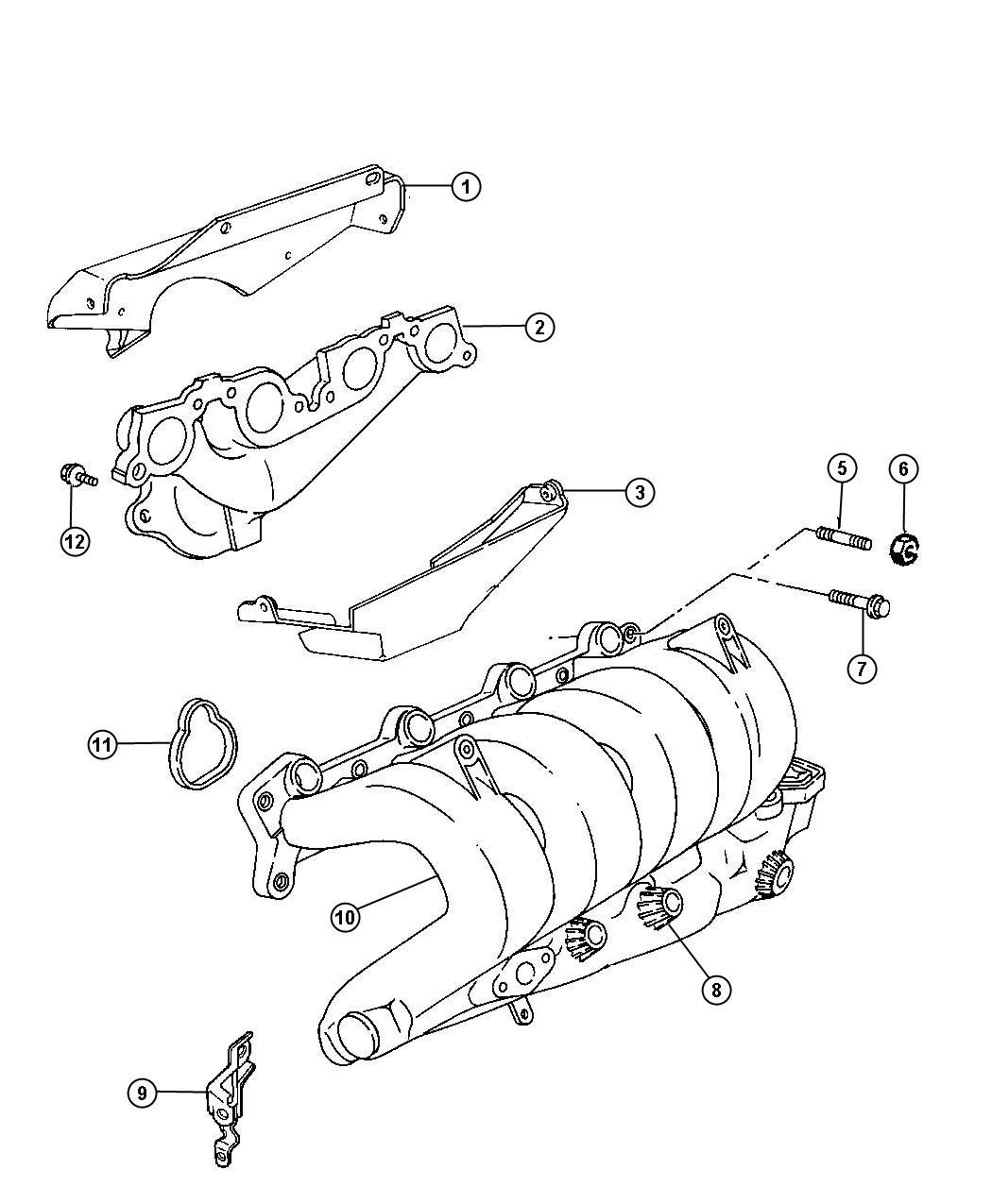 Plymouth Neon Manifold  Intake  Plastic