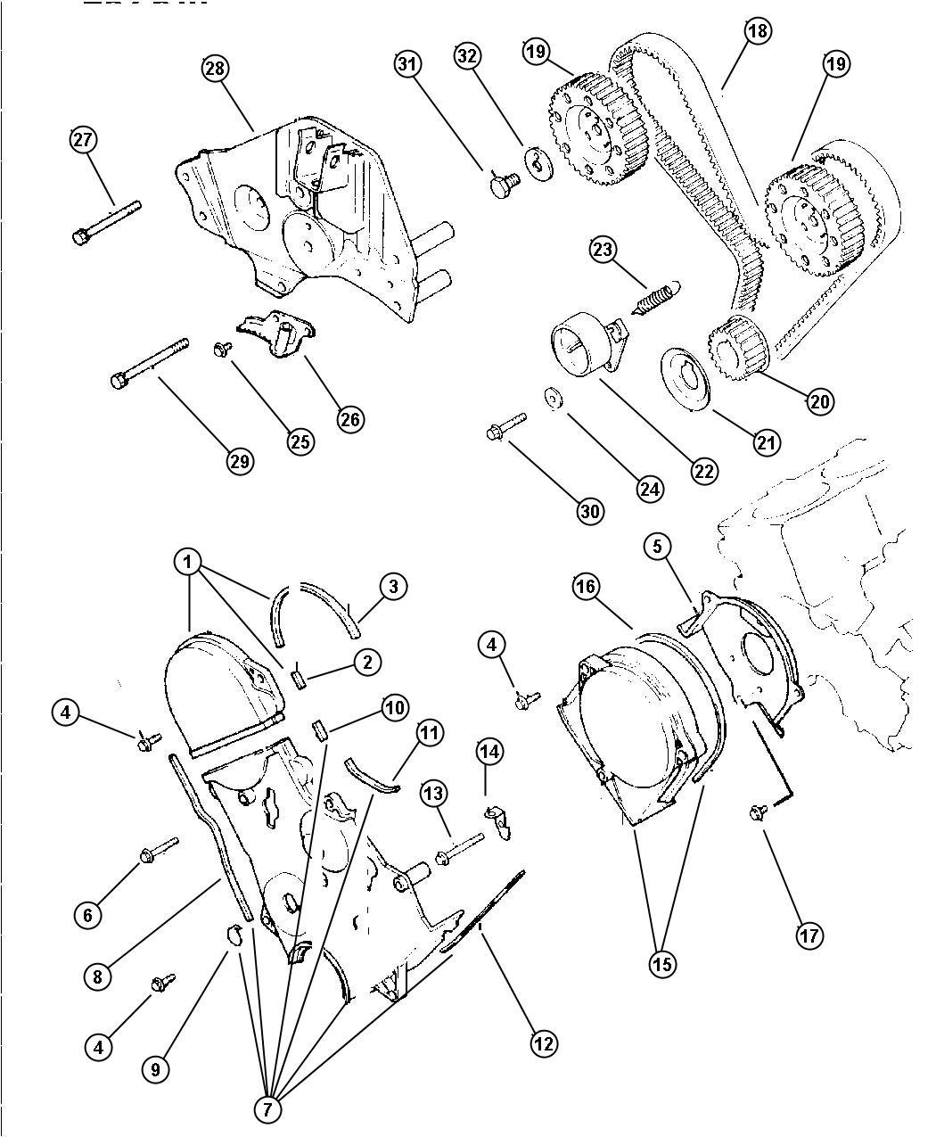 Chrysler Voyager Bracket  Engine Mount  Efa