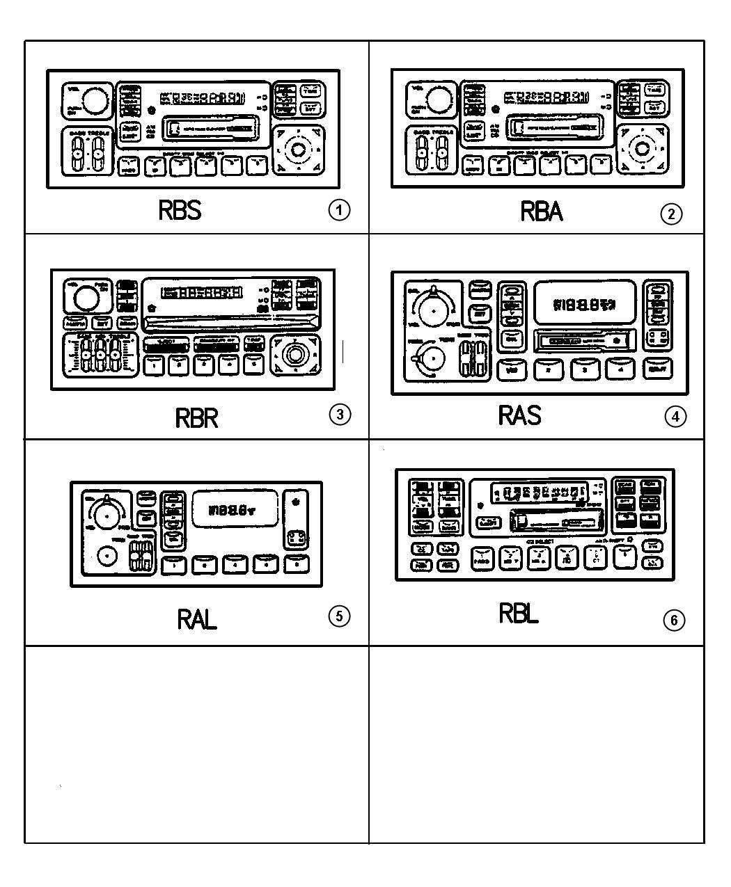Dodge Stratus Radio  Am  Fm Cassette  Sales Code  Ras