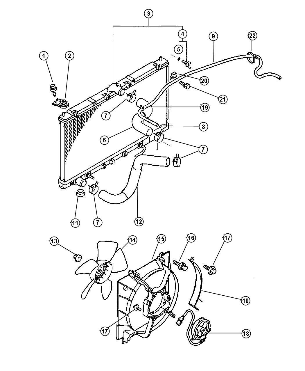 Chrysler Sebring Radiator  Engine Cooling  U S   Canada