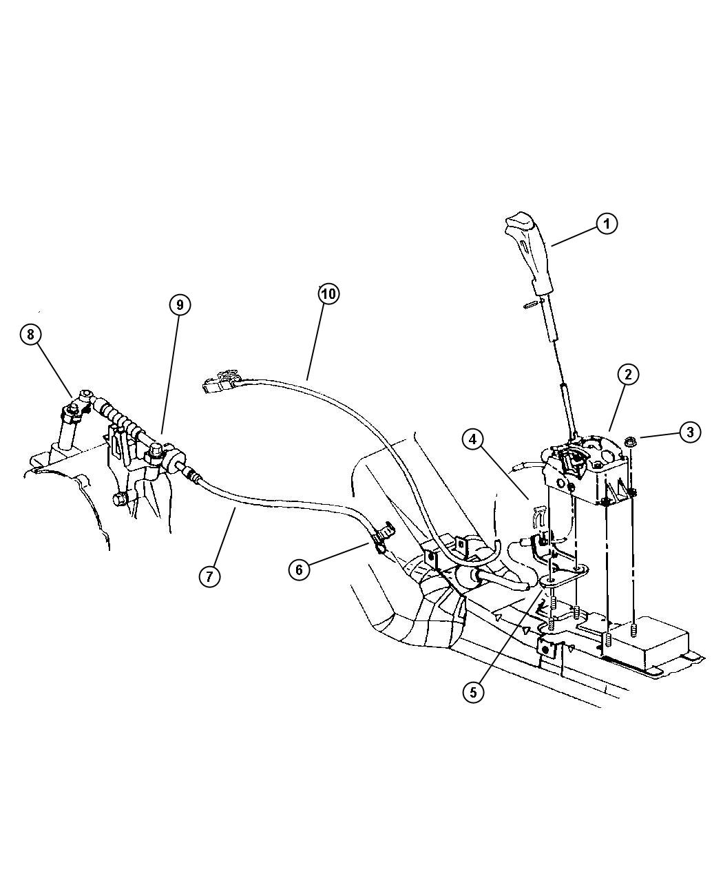 Plymouth Breeze Shifter  Transmission  W  O Autostick