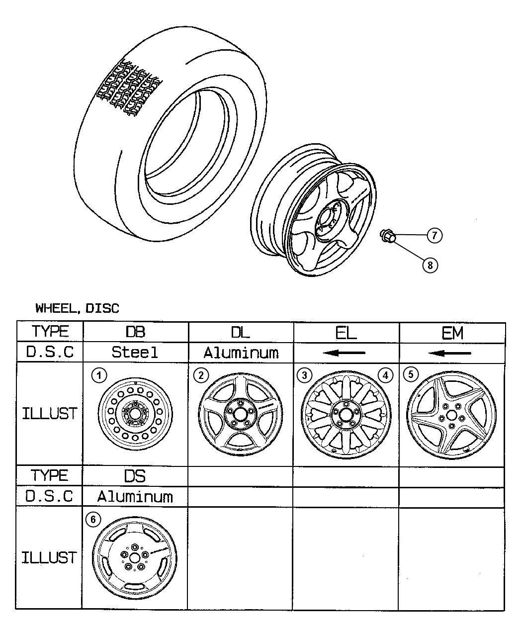 Dodge Avenger Wheel  Aluminum