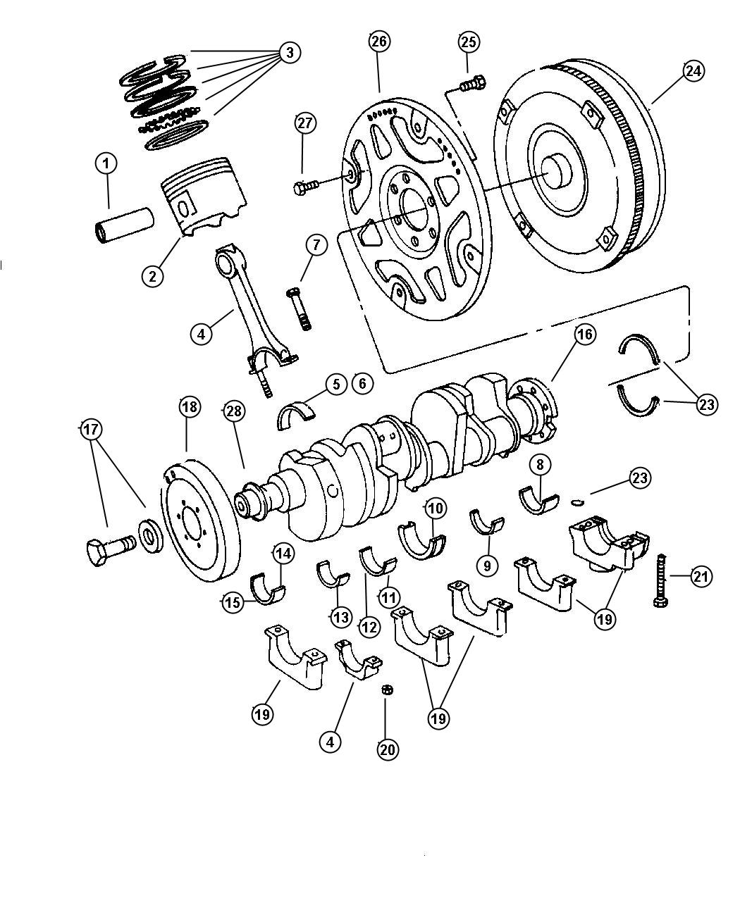52118255 - Plate. Torque converter drive. Eln | Mopar ...
