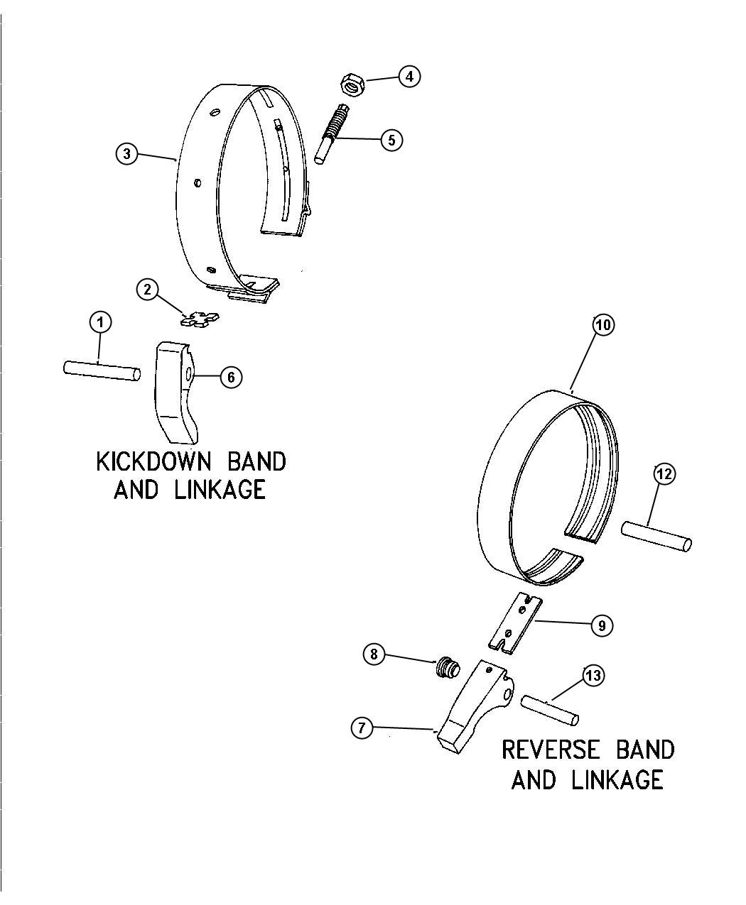 Plymouth Voyager Lever  Reverse Band  Europe  Integral  W