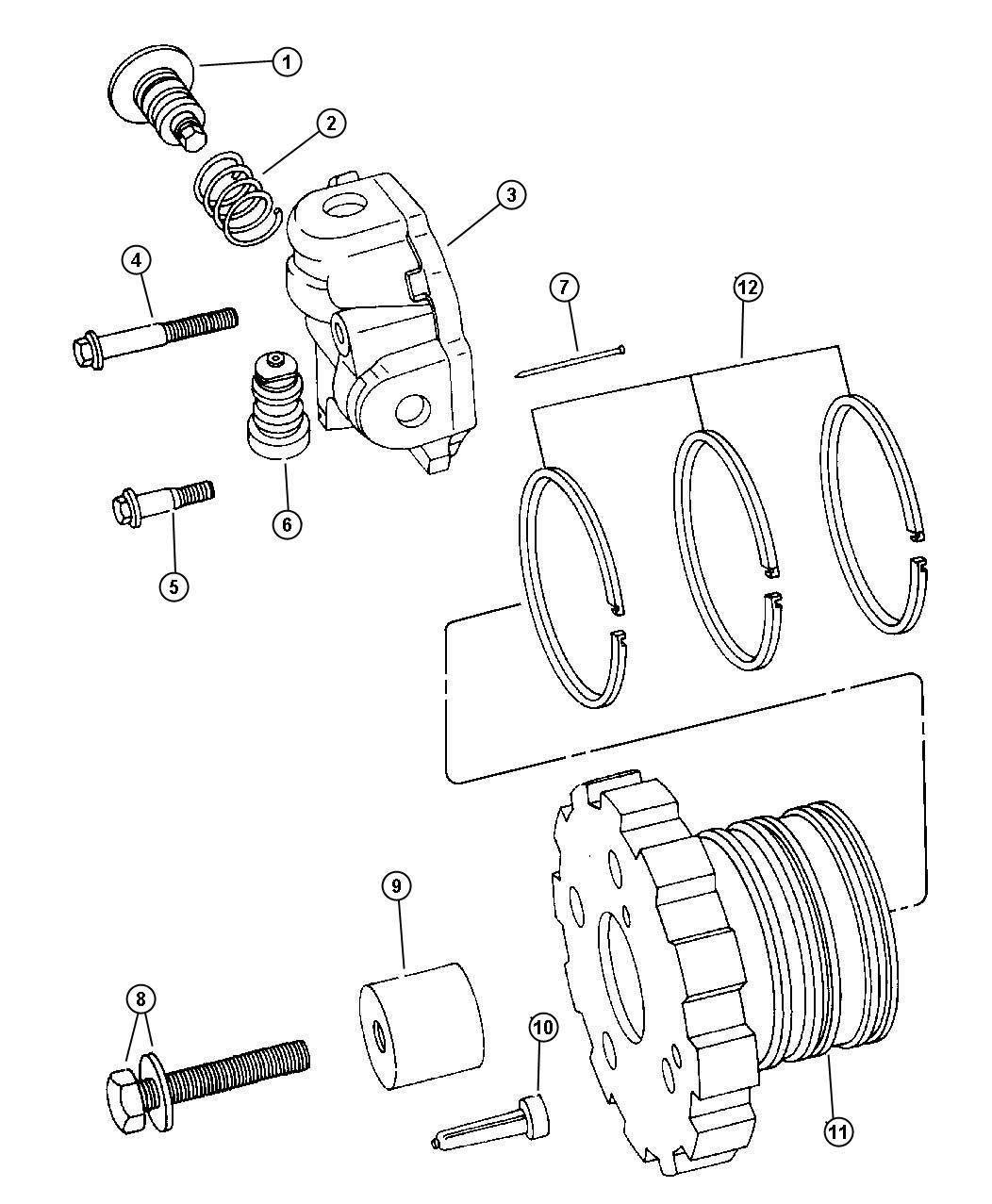 1998 Plymouth Voyager Governor Automatic Transaxle, 3 ...