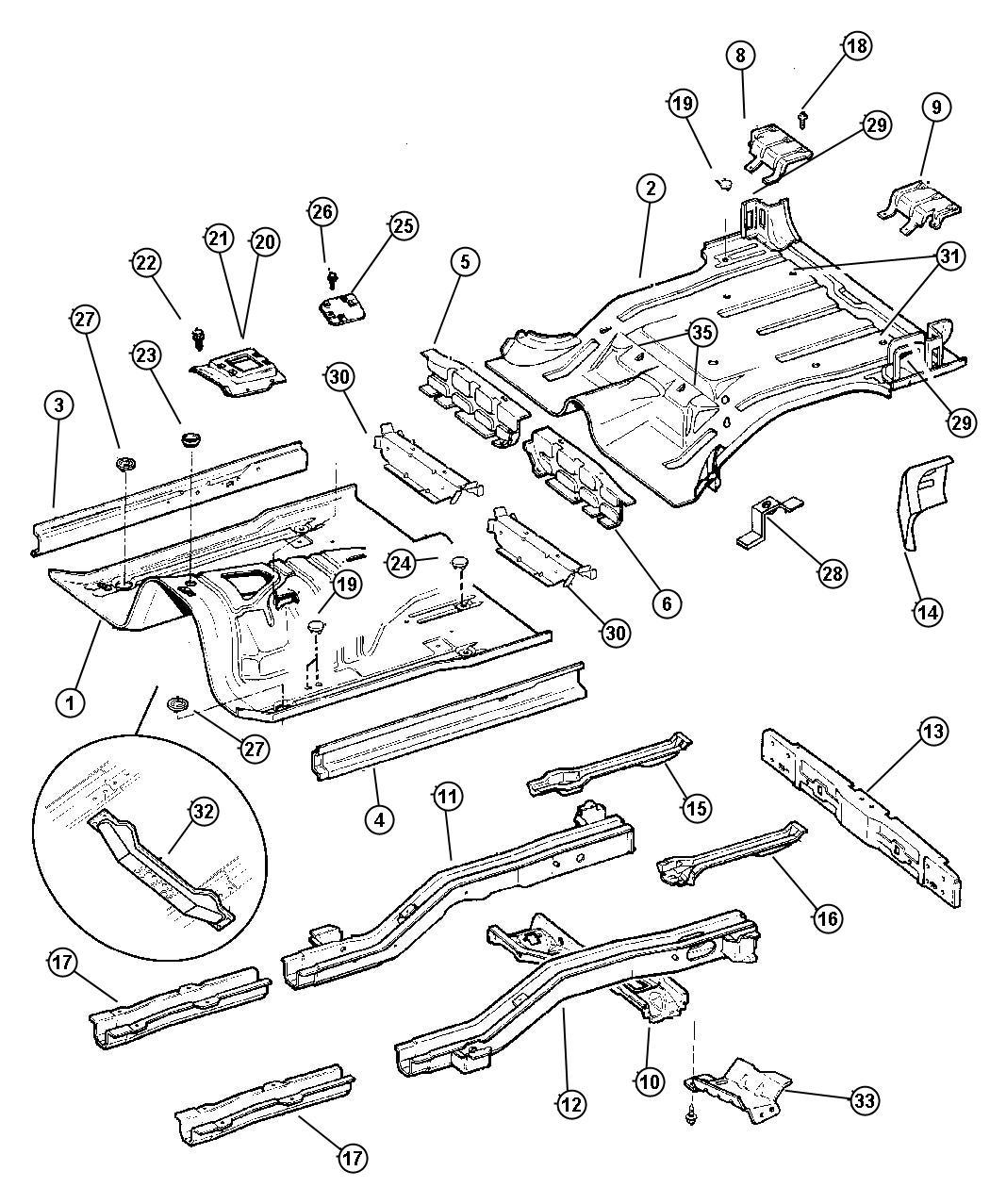 Pans floor for 1994 jeep cherokee floor pans