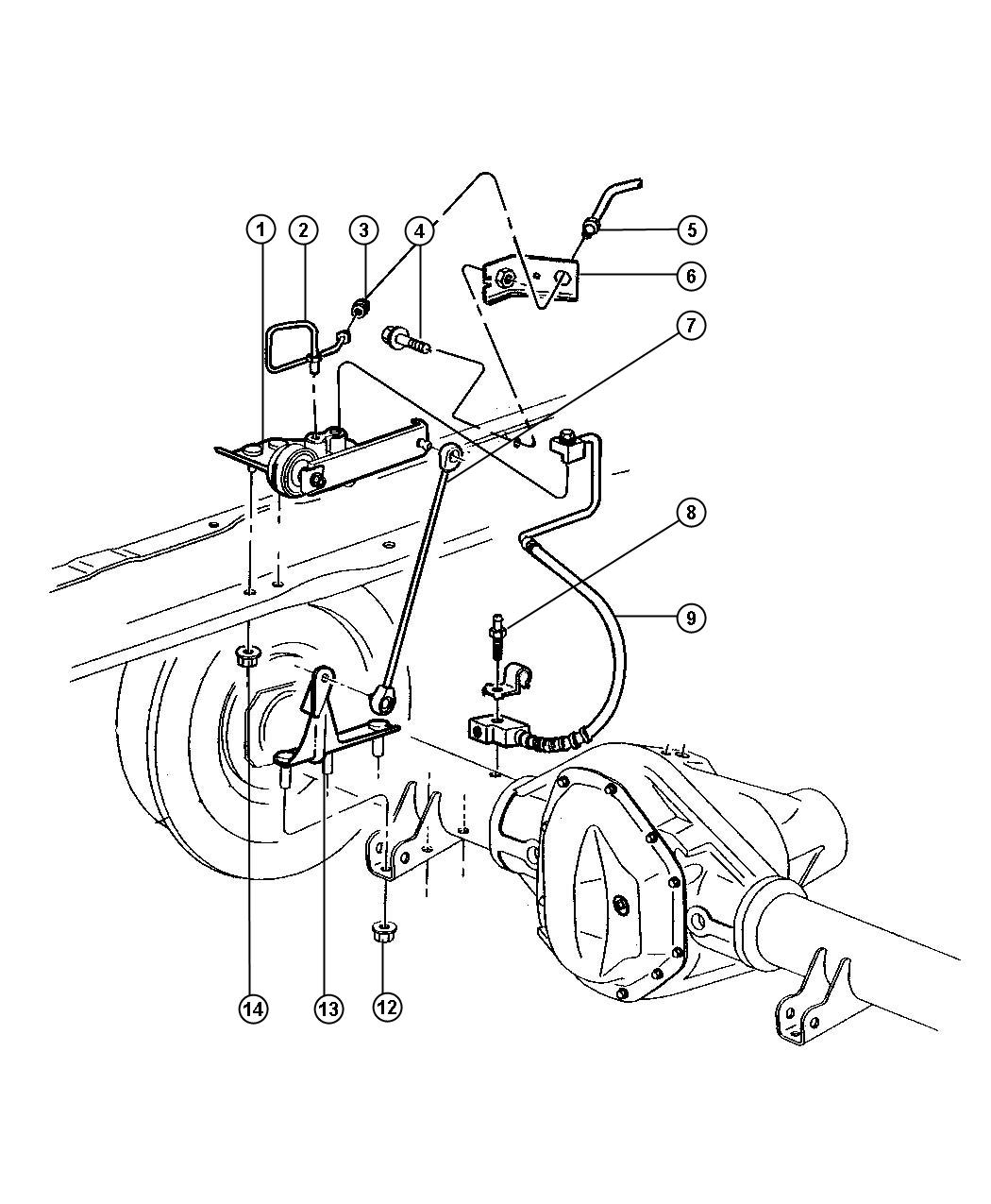 dodge ram 2500 rear height sensing system with z7b suspension