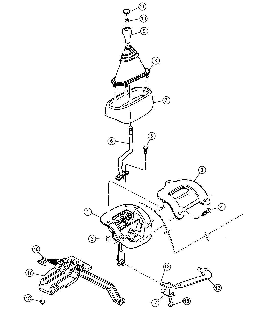 52105006 mopar rod gear shift control transfer case. Black Bedroom Furniture Sets. Home Design Ideas
