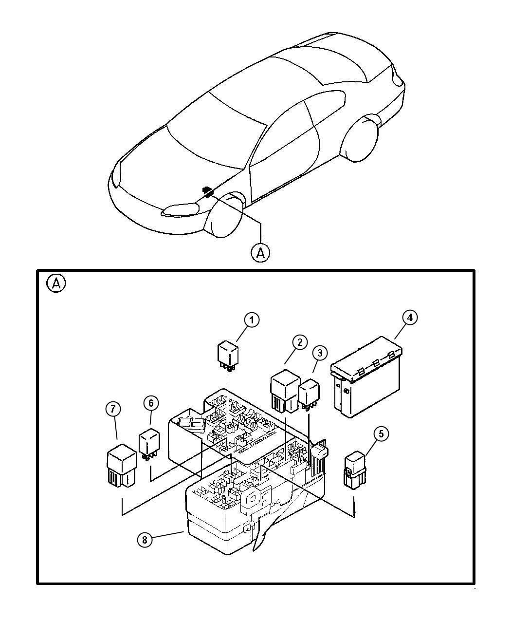 Dodge Stratus Relay  Engine Control