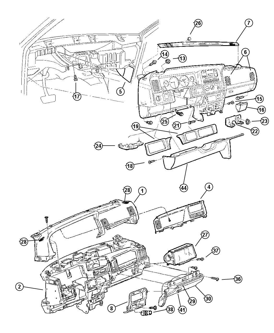 Jeep Grand Cherokee Latch  Glovebox Door  Door Assembly