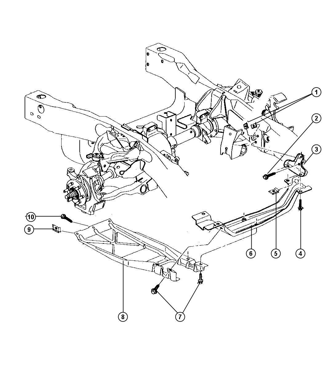 2006 Dodge Ram 2500 Front End Parts Diagram