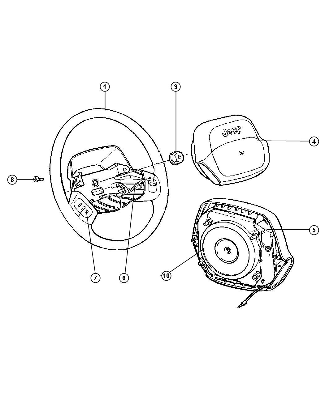 5gk431azab jeep wheel steering discontinued. Black Bedroom Furniture Sets. Home Design Ideas