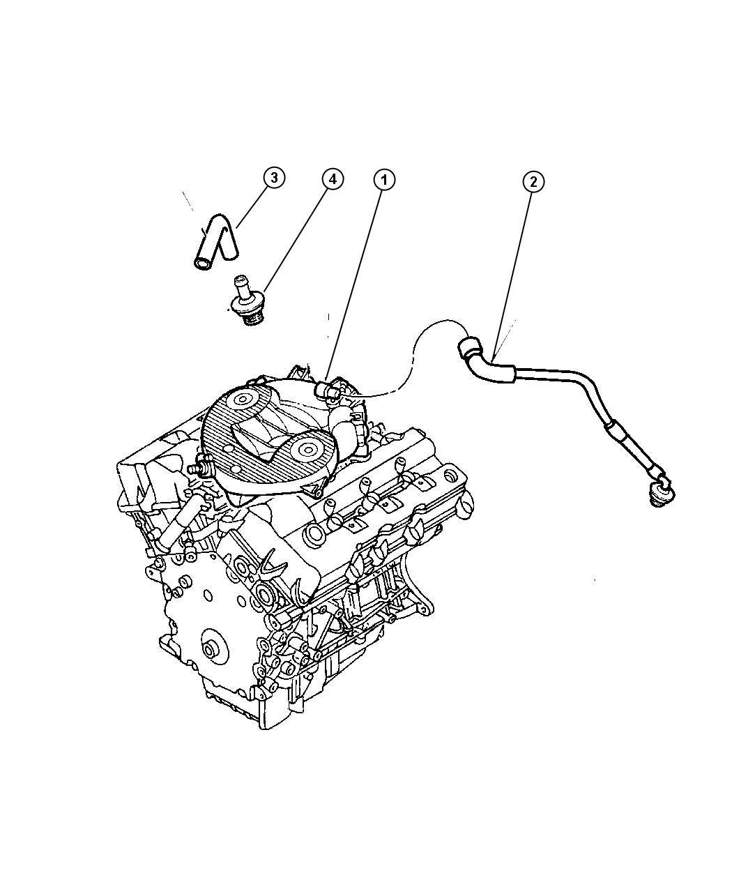 2001 Dodge Intrepid Crankcase Ventilation 2.7L Engine