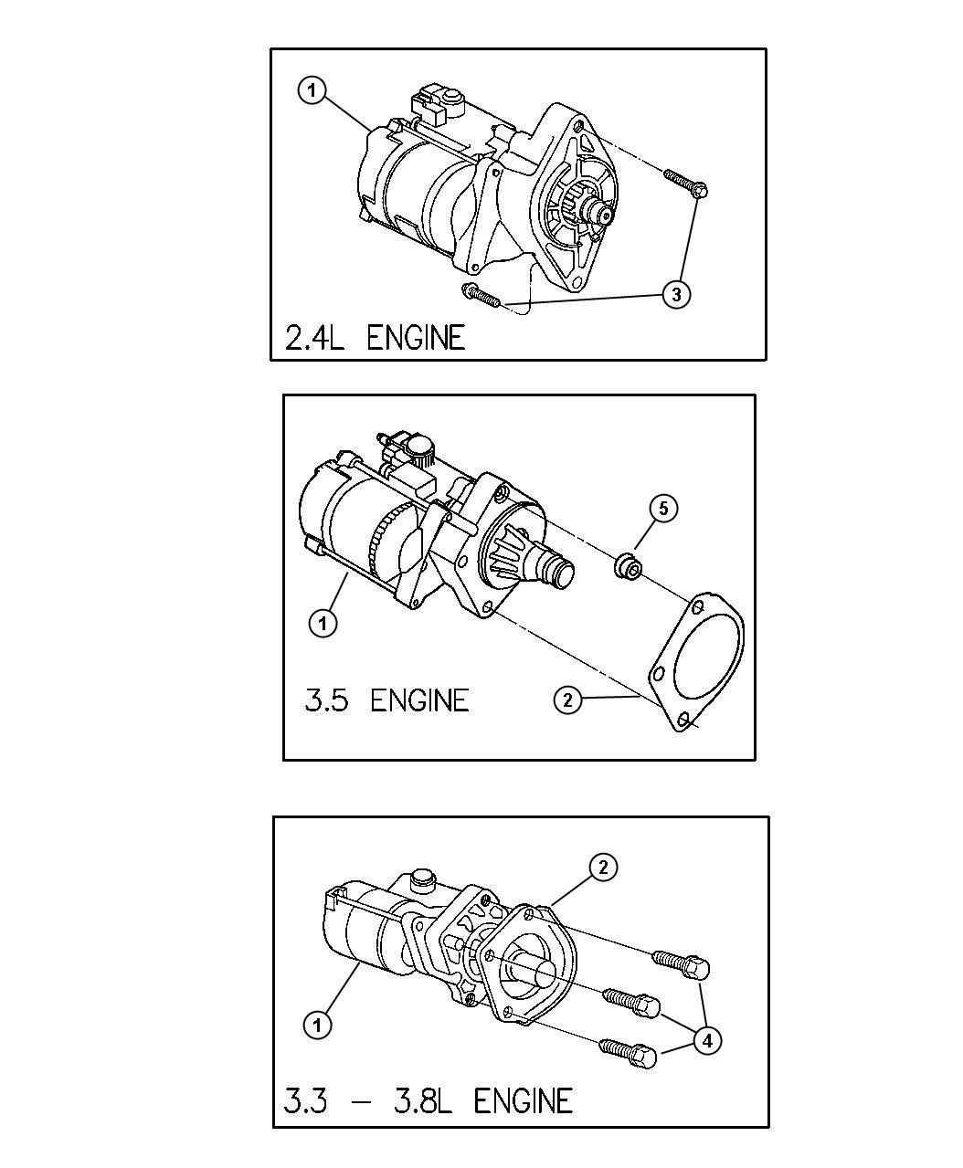 Chrysler Voyager Starter  Engine